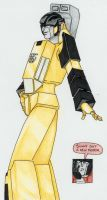 Sunstreaker's Striked Pose by Darkenlite