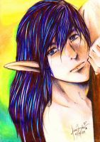 Spice: Male Elf for Fioweenel by rianbowart
