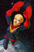 Captain Marvel by drawerofdrawings