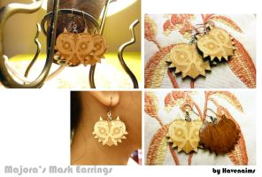 Majora's Mask Earrings by Havenaims