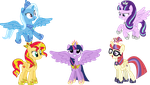 Request - ALL The Alicorns! by SketchMCreations