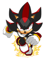 Shadow the hedgehog, pose 2 by XalenTheWolf