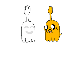 High Five Ghost hanging with High Five Jake by TootsieRoIIs