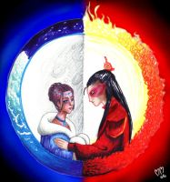 We Both Rise... Sun and Moon by Spleef