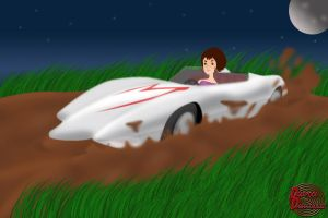 Commission - Mach5 in mud! by DeadpoolDisassembled