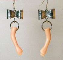 Dismembered Doll Earrings by DelectablyDeviant