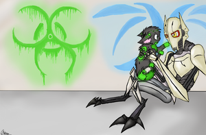 Schadowvirus and Grievous wallpaper by 00Schadow00virus00