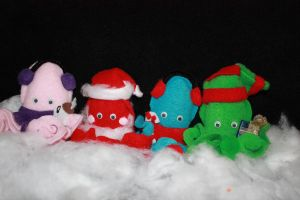 Christmas Squids by Cyber-Scribe-Screens
