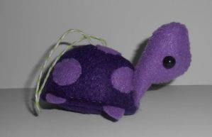 Purple Turtle Christmas Ornament by kiddomerriweather