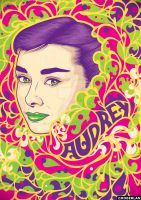 Psychedelic Audrey by roberlan