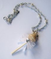 Pina Colada Lollipop Necklace by prheat