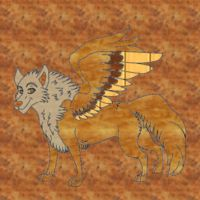 Winged wolf from wood by sedsone