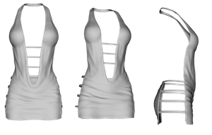 White Sexy Dress png by mysticmorning