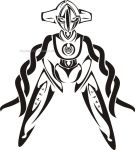 Tribal Deoxys Tattoo by NewtonianNocturn