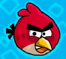 Red angry bird by meimeix