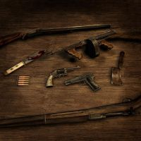 collection of weapons used by sonofamortician