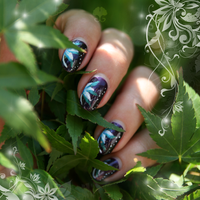 Nail Art: White Flower by ginkgografix