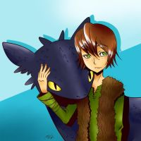 HTTYD - Hiccup and Toothless by mirmin
