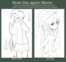 Draw this again! (2012 vs 2013) by Yuzas