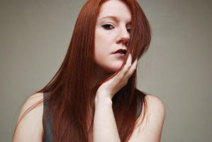 Natural Redhead Self Portrait 2014 by angelsfalldown1