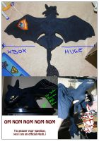 Toothless Plush - FOR SALE by RadiantGlyph