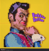 Stefan Karl as Robbie Rotten - BEAD Sculpture by FilmmakerJ