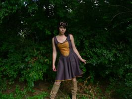 Steampunk Inspired Dress by Xibadobbler