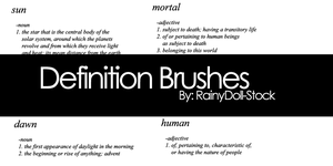 Definition Brushes by RainyDoll-Stock
