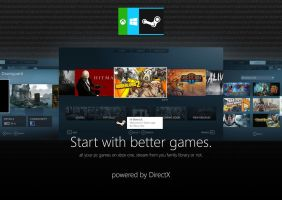 Xbox OS Steam by MetroUI