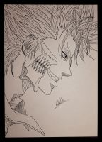 Grimmjow Jaggerjack line art by katdarkshines
