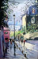 Morning in Montmartre Paris by ricardomassucatto