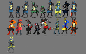 Lots of Lucarios and Riolus by MikeGTS