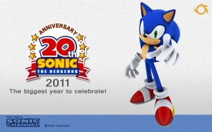 Sonic's 20th Wallpaper 2 by Fuzon-S