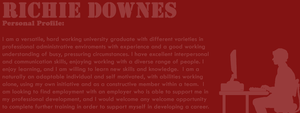 6: Red: Richie Downes - Personal Profile by TheEmotionalPoet
