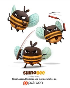 Day 1398. Shinobee by Cryptid-Creations