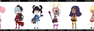 OPEN Adoptable Music Gals by Lashings