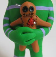voodoo doll close up by mealymonsterland