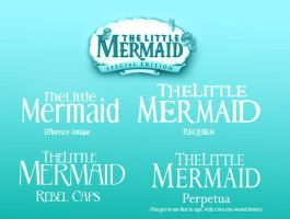 The Little Mermaid Simil Fonts by Alce1977