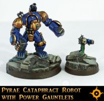 Cataphract Robot With Power Gauntlets by Proiteus