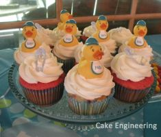 Baby Shower Cupcakes by cake-engineering