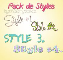 +Pack de Styles #2. by Thisismyspace