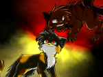 Starclan vs. Dark forest v2 by Spottedfire-cat