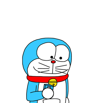Doraemon playing Pokemon GO by MarcosPower1996