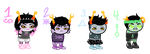 Troll Pastel Mutants Adopts (CLOSED) by beankat-adopts