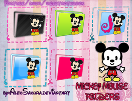 Mickey Mouse Folders Carpetas by AlekSakura