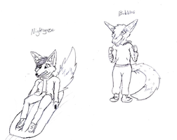 Character Sketches 7 by Fox-under-the-stars