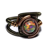 Steampunk Ring Lab Opal by CatherinetteRings