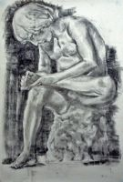 Statue - Charcoal by TheNecco