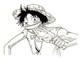 Luffy by Cemetery-Nightmare