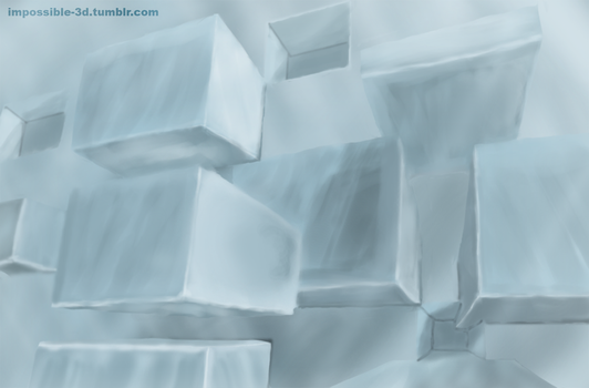 Wall of Ice Cubes by Imp0s5ible